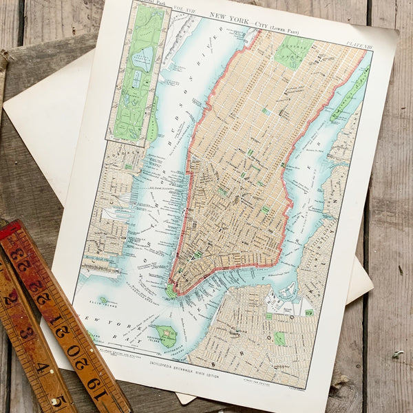 Vintage New York City Map