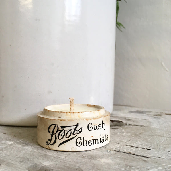 Boots Cash Chemist Small Vintage Paste Pot Candle in Wild Fig