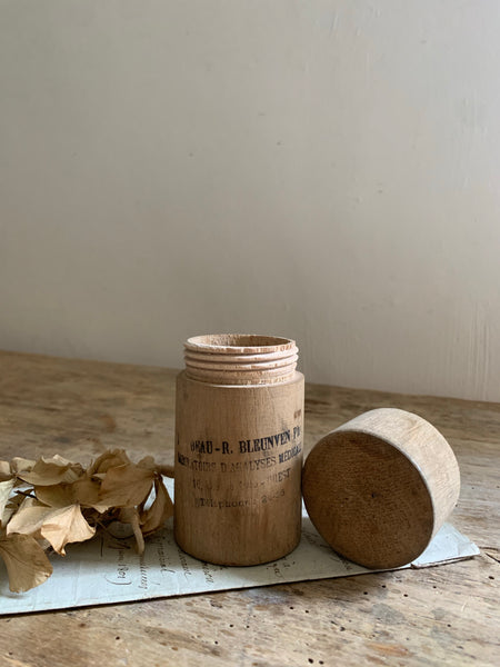 French Wooden Medicine Bottle Holder