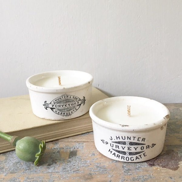 J Hunter of Harrogate Candles in Earl Grey & Cucumber