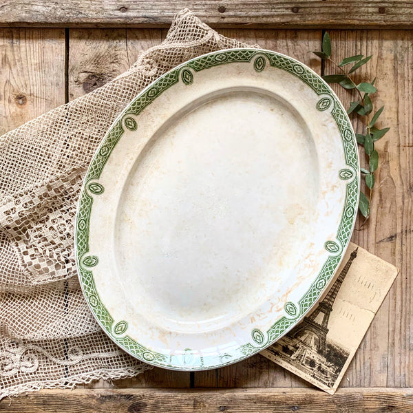 Vintage Green Detail Small Platter