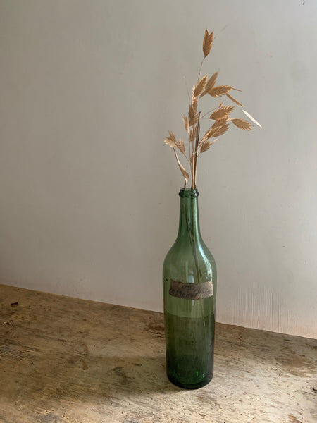 Vintage Green French Bottle
