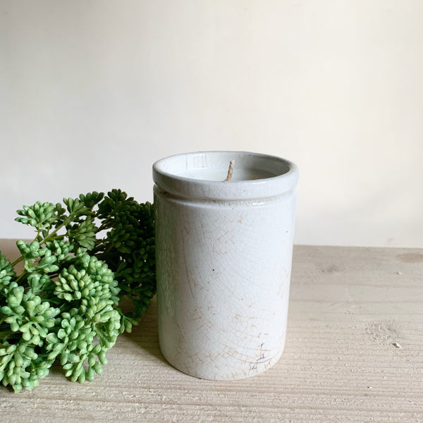 Vintage Ink Pot Candle in Green Tomato Leaf