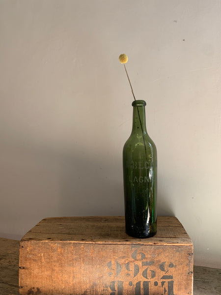 Vintage French Blown Bottle