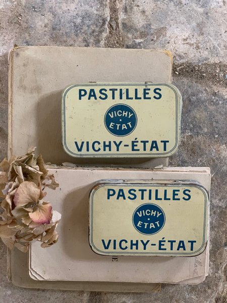 Vintage Medium Vichy-Etat Tins