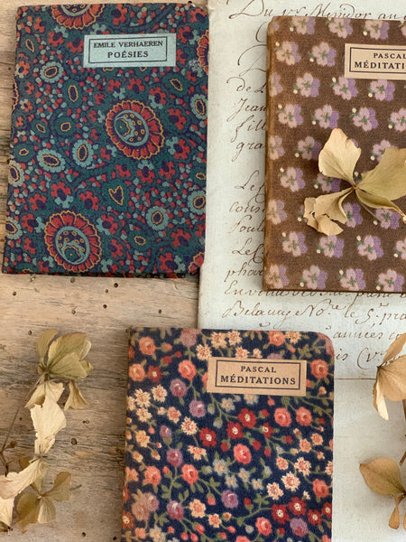 Miniature Fabric French Books for Styling