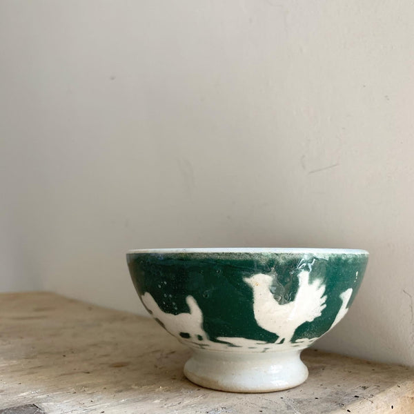 Rustic French Farmyard Cafe au Lait bowl