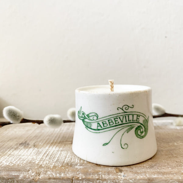 French Transferware Candle in Rosemary & Eucalyptus