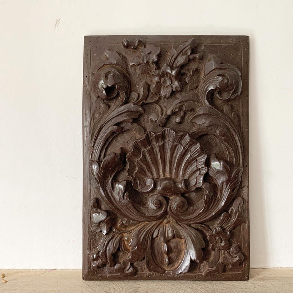 Decorative Pilgrimage Rococo Panel in Terracotta