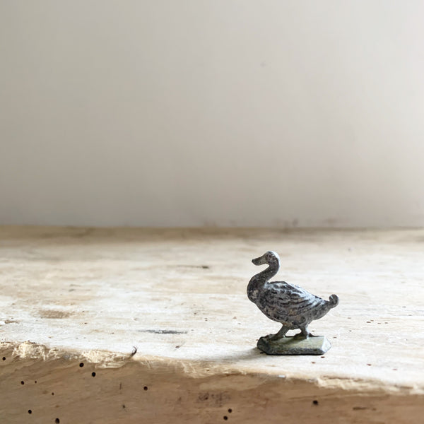 Mini Vintage Lead Duck