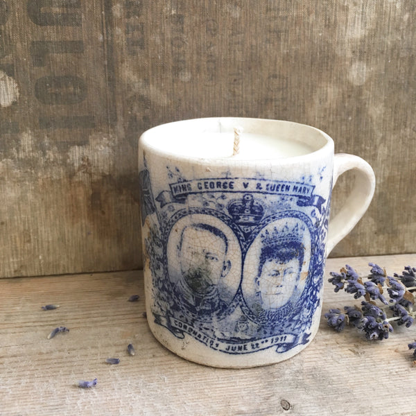 1911 Coronation Candle in Lavender & Sea Salt