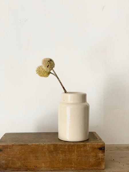 Small Stoneware Cream Churn