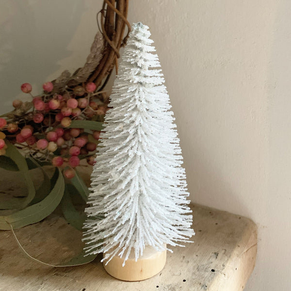 Mini White Retro Christmas Trees