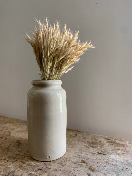 French Vintage Tall Stoneware Pot