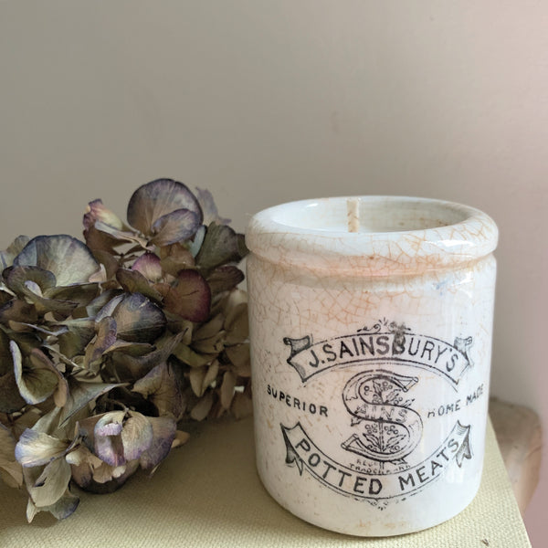 Vintage Sainsbury's Pot Candle in Frankincense & Myrrh