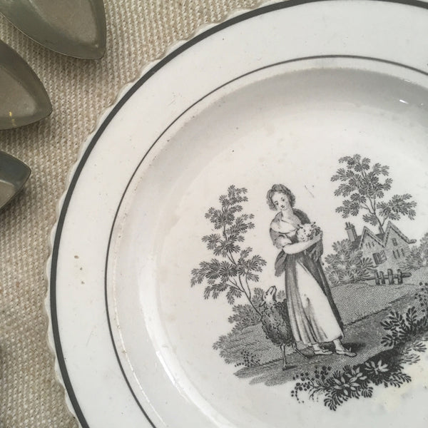 Antique Stone China Plate