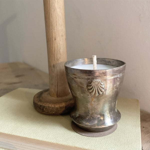 Vintage Mini Pot Candle in Green Tomato Leaf