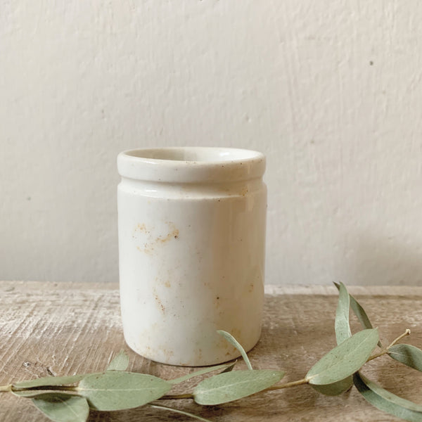 Vintage White British ink pot