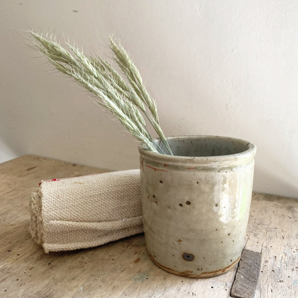 Antique Simple French Stoneware Pot