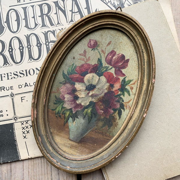 Small Framed French Floral Painting