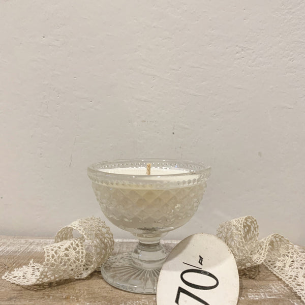 Vintage Glass Candle in Wild Fig
