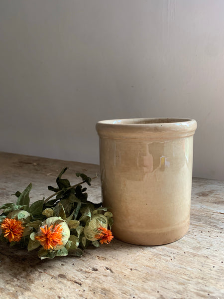 Vintage French Crazed Pot