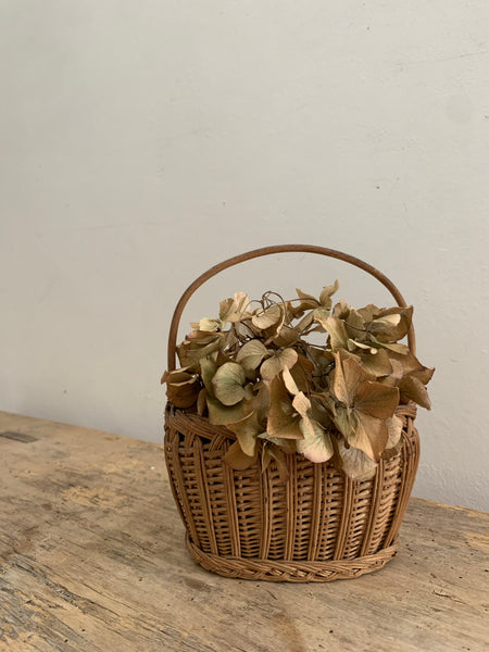 Miniature Vintage Handled Basket