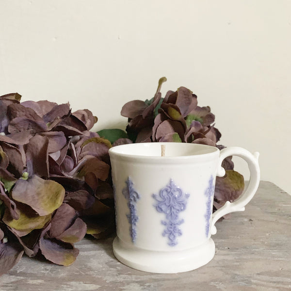 Vintage Mug Candle in Lavender & Sea Salt