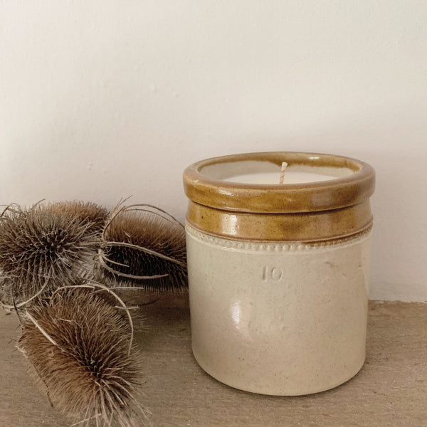 Vintage Stoneware Jar Candle in Earl Grey & Cucumber