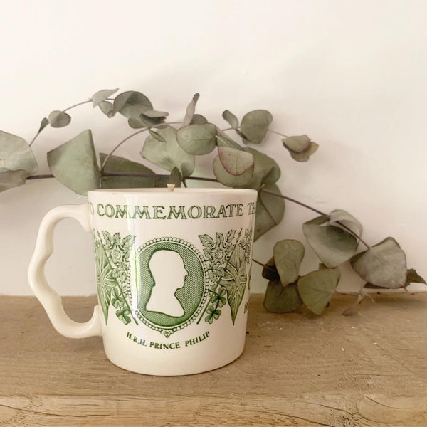 Silver Jubilee Cup Candle in Rosemary & Eucalyptus