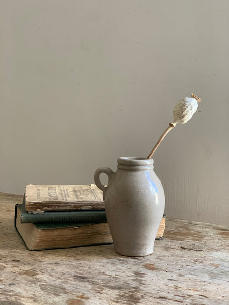 Small French Vintage Stoneware Bottle