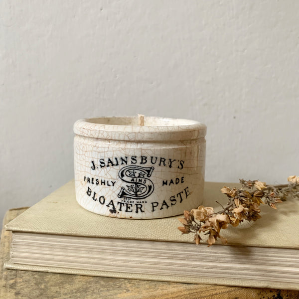 Vintage Sainsbury's Pot Candle in Lavender & Sea Salt