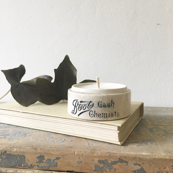Boots Cash Chemist Vintage Pot Candle in Earl Grey & Cucumber