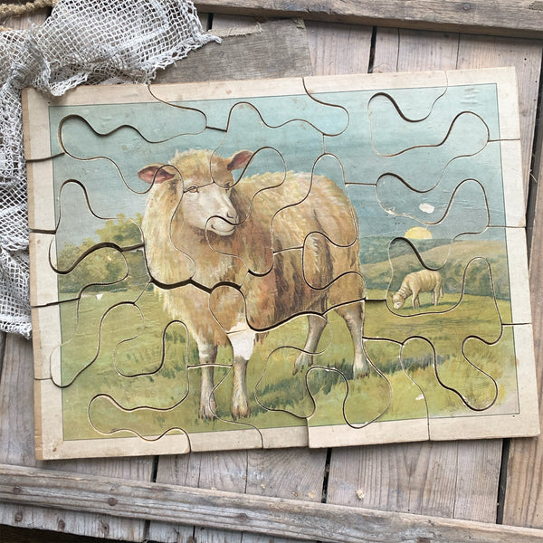 Vintage French Sheep Puzzle