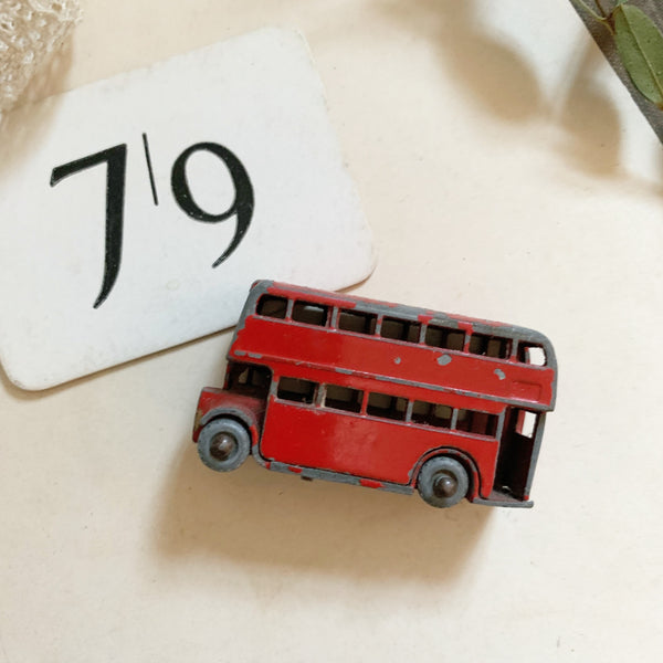 Vintage Red Bus Toy