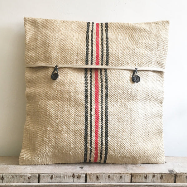 Vintage French Grain Sack Cushions