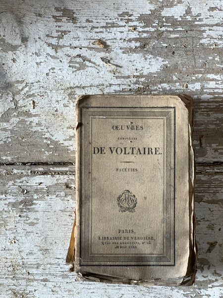 19th Century De Voltaire Book