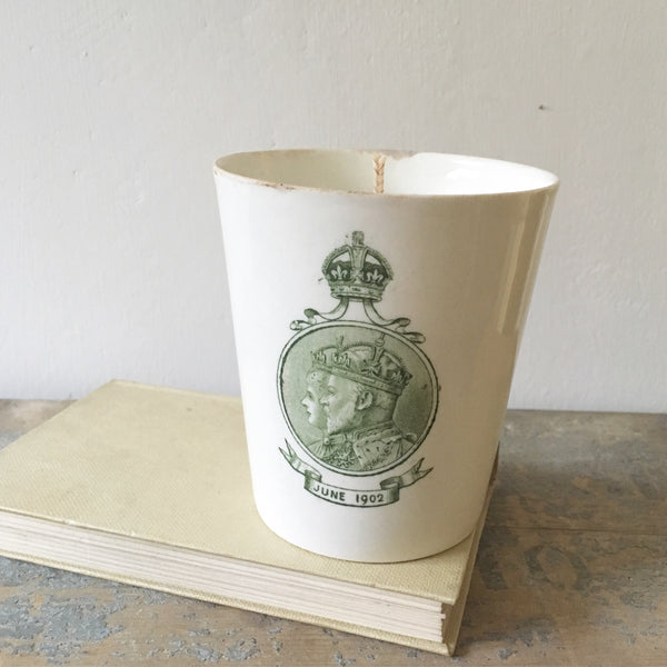 1902 Coronation Candle in Green Tomato Leaf