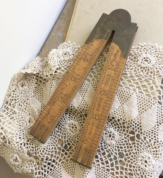 1930s Vintage Rabone Wooden 2ft  Rule