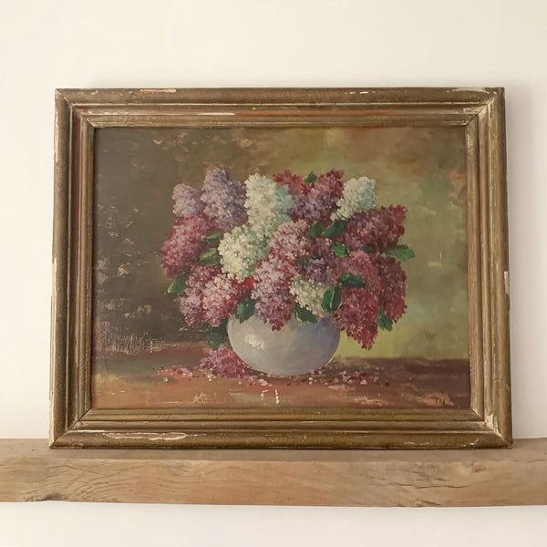 Framed Vintage French Oil Painting
