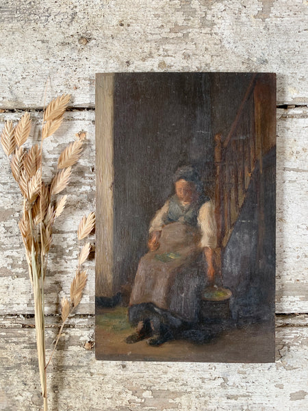 Dark French Lady Oil Painting