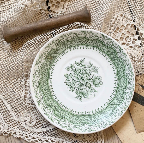 Small Vintage English Ironstone Saucer