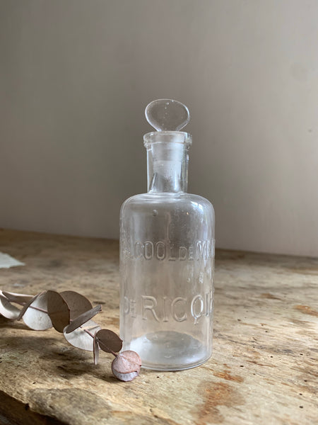 Vintage French Alcool de Menthe Bottle