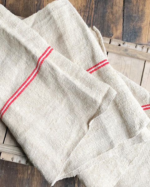 Vintage French Linen Table Runner