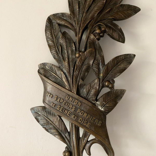 Bronze Fire Service Commemorative Decorative Plaque