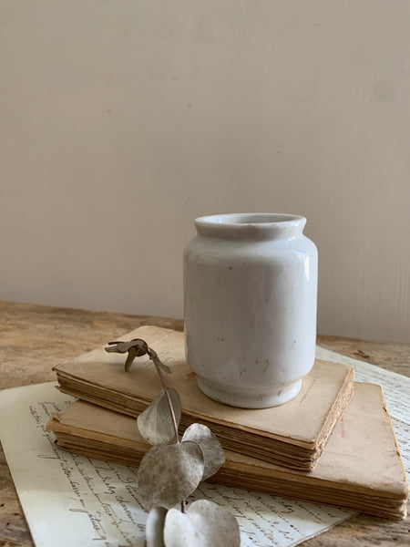 Antique Stoneware Cream Jar