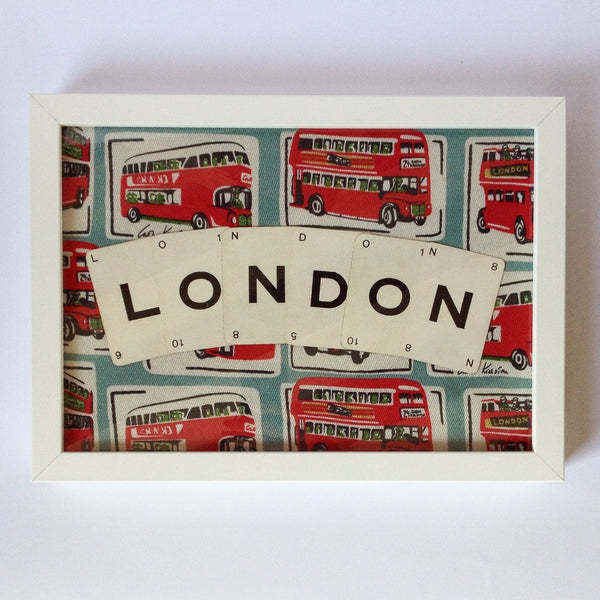 London Red Bus Vintage Playing Cards Wall Art by Ivy Joan