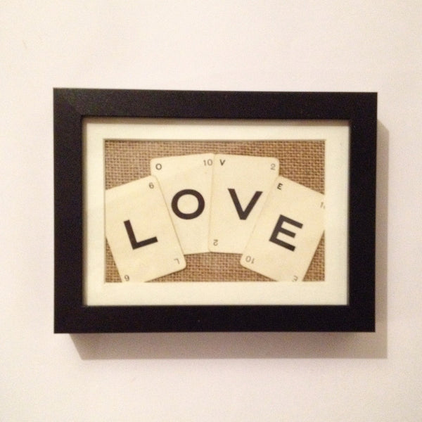 Love Vintage Playing Cards Wall Art by Ivy Joan