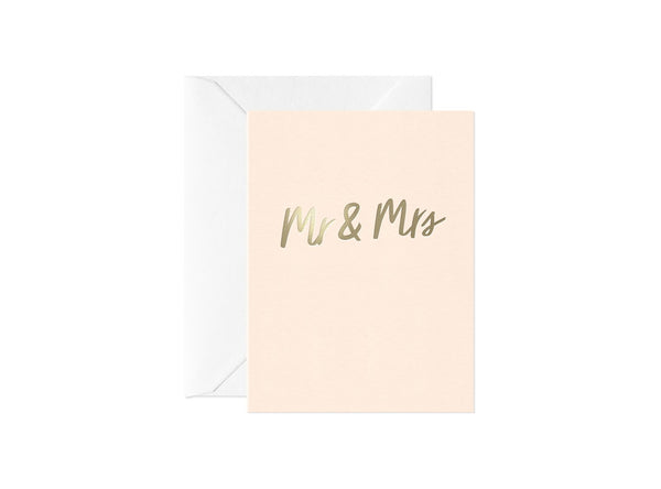 Mr & Mrs, Happy Thoughts Card