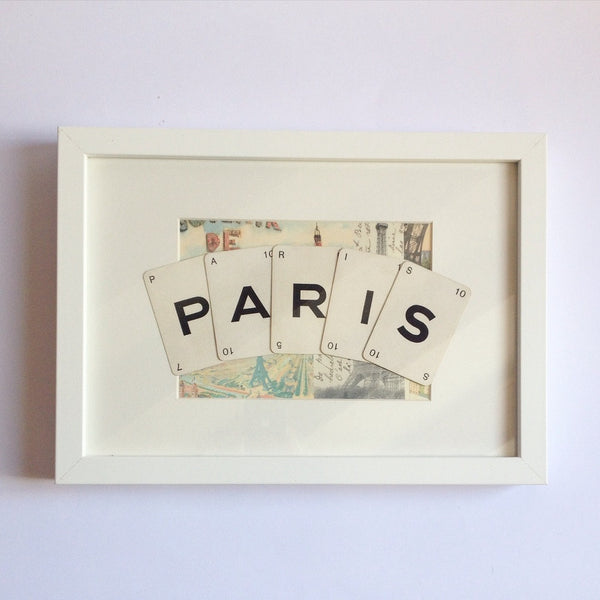 Paris Vintage Playing Card Frame by Ivy Joan